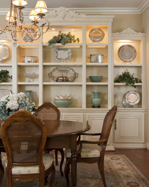 Dining Room Built In Provides Display And Storage