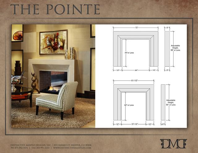 The Pointe Modern Stone Fireplace Mantel