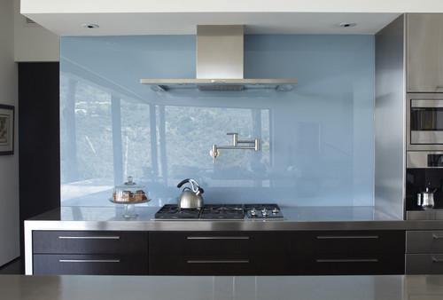 glass kitchen backsplash white laminate cabinets add beautiful designs forner lavoy