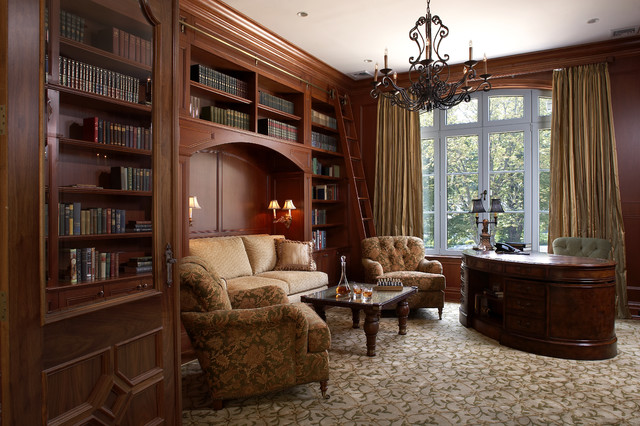 Traditional Study Traditional Home Office New York