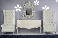 Baroque High Back Chair - Modern - Armchairs And Accent ...