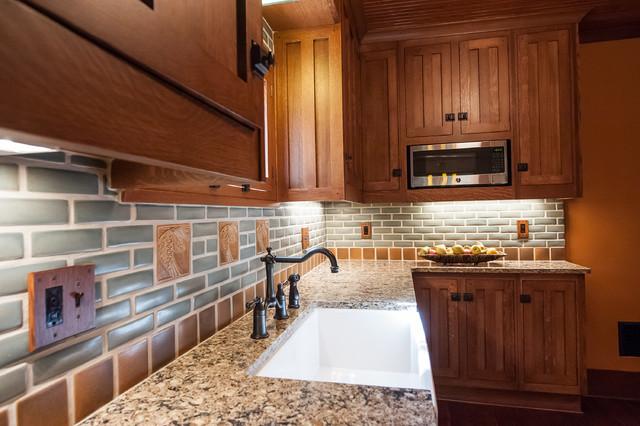 houzz outdoor kitchens kitchen countertops frank lloyd wright inspired - craftsman ...