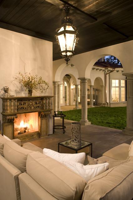 Outdoor Loggia mediterranean patio