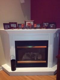 Need help decorating a large, deep corner fireplace mantel