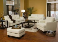 Contemporary, Modern Leather Upholstered Living Room Sofa ...
