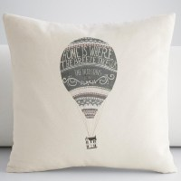 Personalized Hot Air Balloon Throw Pillow Cover ...