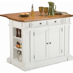 Home Styles Monarch Kitchen Island Design Program In Rich Multi Step White ...