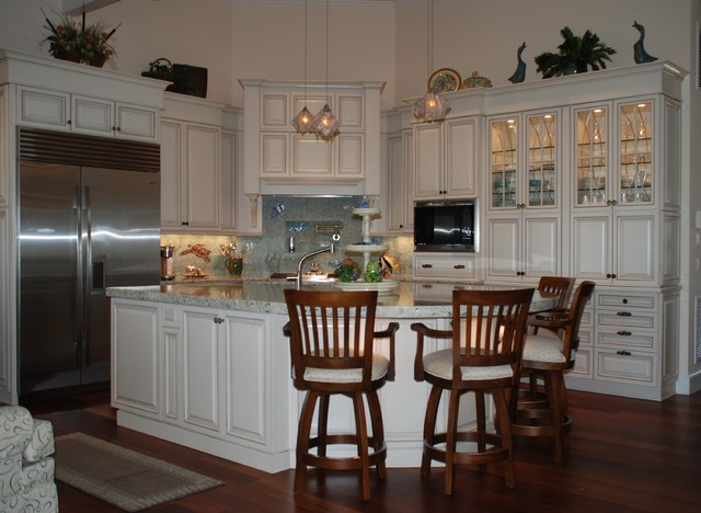 Low Country Cottage Taggart River House Beach Style Kitchen