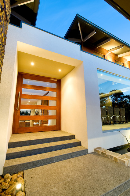 houzz modern living room lighting tiles texture noosa villa by design unity - entry melbourne ...