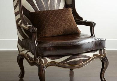 Brown Zebra Print Chair