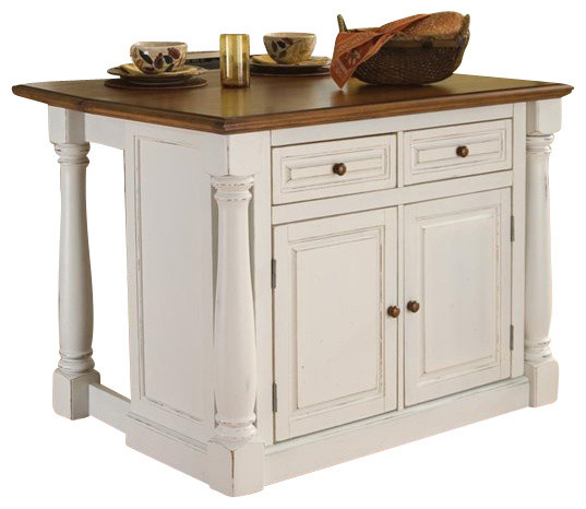 Kitchen Island Two Stools Traditional Islands