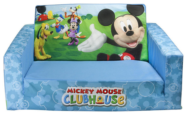 mickey mouse flip out sofa australia toddler clubhouse flip-open with slumber ...