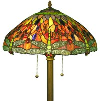 Tiffany-style Dragonfly Floor Lamp - Contemporary - Floor ...
