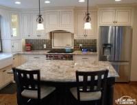 Elegant White Kitchen   Dark Mocha Island - Traditional ...