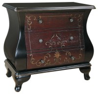Hand-painted Distressed Espresso Finish Bombay Accent ...