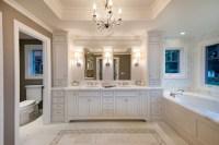 Master Bath in White - Traditional - Bathroom - san ...
