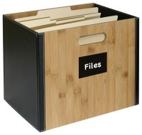 Bamboo Storage Collection File Box - Contemporary - Filing ...