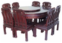 Old World Round Dining Table And Chairs