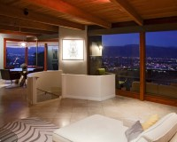 Hollywood Hills night shot - Modern - Living Room - los ...