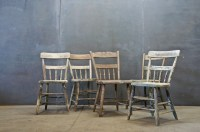 Belgium Primitive Farmhouse Chairs - Eclectic - Dining ...
