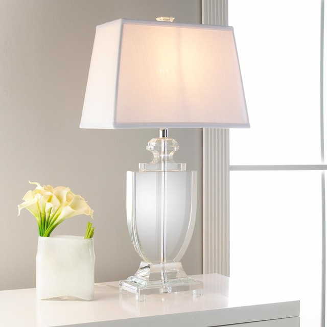 Silhouette Crystal Urn Table Lamp