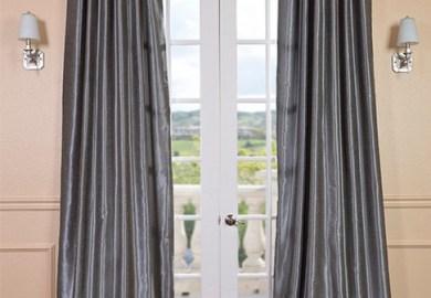 Grey Silk Curtains