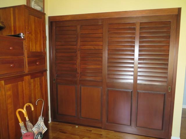 wrought iron kitchen table pine bench plantation shutters & closet doors