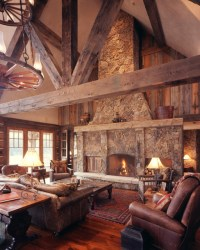 Western Homestead Ranch Living Room - Rustic - Living Room ...