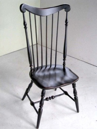 Black High Back Side Dining Chair  Farmhouse  Dining Chairs  boston  by ECustomFinishes