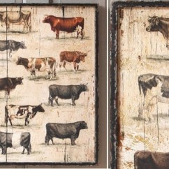 Chicken Kitchen Rugs Stainless Sink Framed Vintage Cow Breeds - Farmhouse Prints And Posters ...