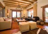 Santa Fe Chic - Mediterranean - Living Room - other metro ...