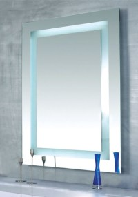Plaza Dimmable Lighted Mirror by Edge Lighting ...