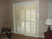 Plantation Shutters on sliding glass doors - Traditional ...