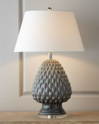 "Porcelain ""Artichoke"" Lamp - Traditional - Table Lamps ..."