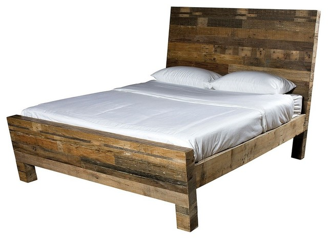 Angora Reclaimed Wood Platform Bed