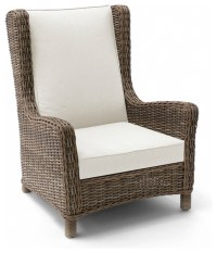 Wicker Wing Chair - Contemporary - Outdoor Lounge Chairs ...