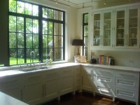 White Kitchen Steel Window - Kitchen - other metro