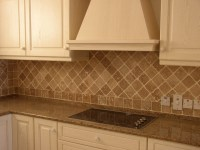 Tumbled Travertine Backsplash - Traditional - Kitchen ...