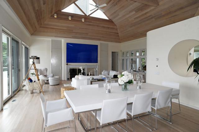 Hamptons Modern Living Room  Contemporary  Dining Room
