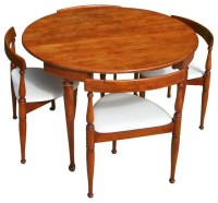 Mid-Century Modern Game Table and Four Chairs - Midcentury ...