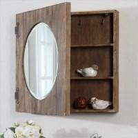Uttermost Gualdo Aged Wood Mirror Cabinet - Farmhouse ...