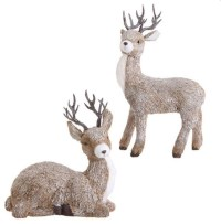 Christmas Deer (Set of 2) - Eclectic - Outdoor Holiday ...