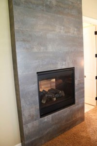 Tile Fireplace - Modern - Indoor Fireplaces - kansas city ...