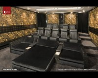 Home Theater with Fortuny and Intimo Seats - Contemporary ...