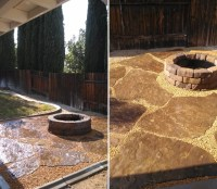 Backyard - DIY fire pit and sitting area