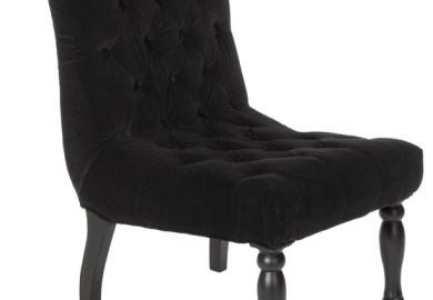 Black Tufted Accent Chair