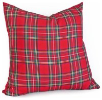 Red Tartan Plaid Pillow - Traditional - Decorative Pillows ...