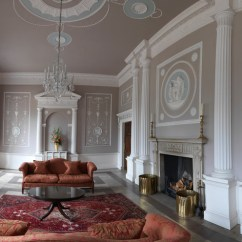 Traditional Living Rooms With Oriental Rugs Light Blue Room Brown Couch Apartment In A Robert Adam Country House - ...