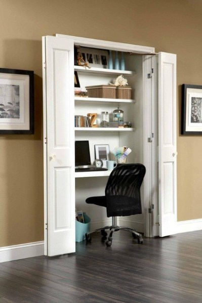 space saving home office idea Space-Saving Ideas