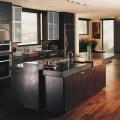Dark walnut floors modern kitchen denver by concrete network